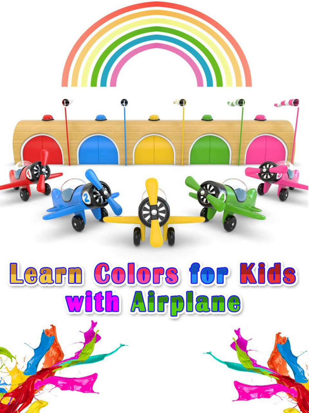Learn Colors for Kids with Airplane