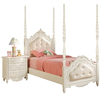 ACME 10995F Full Bed, Pearl White Finish