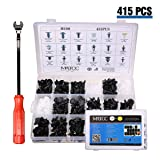MATCC 415pcs Bumper Clips Car Plastic Rivets Fasteners Push Retainer Kit with Pliers Tool Fit Ford Toyota Honda Chrysler (Tamaño: 415 Clip With Remover)