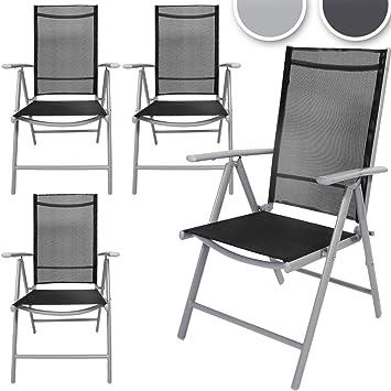 Alu verstellbarer 4er Stuhl Set mit komfortables Gartenstuhl Y6vbfy7g
