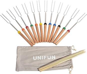 12-Pks. Unifun Marshmallow Roasting Sticks Set