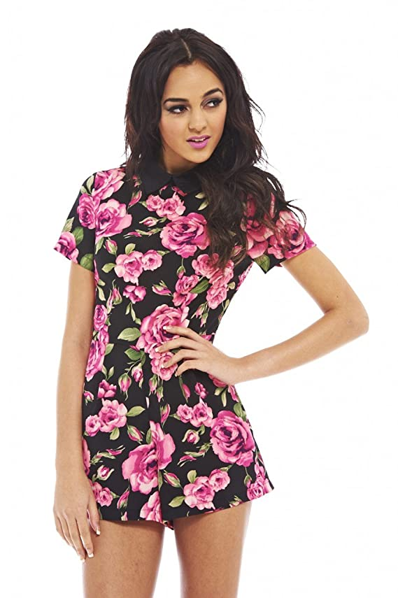 AX Paris Women's Collar Floral Romper