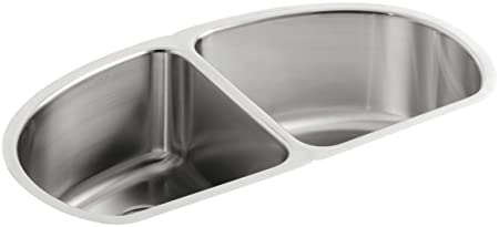 KOHLER K-3148-NA Undertone Double Equal Undercounter Kitchen Sink, Stainless Steel