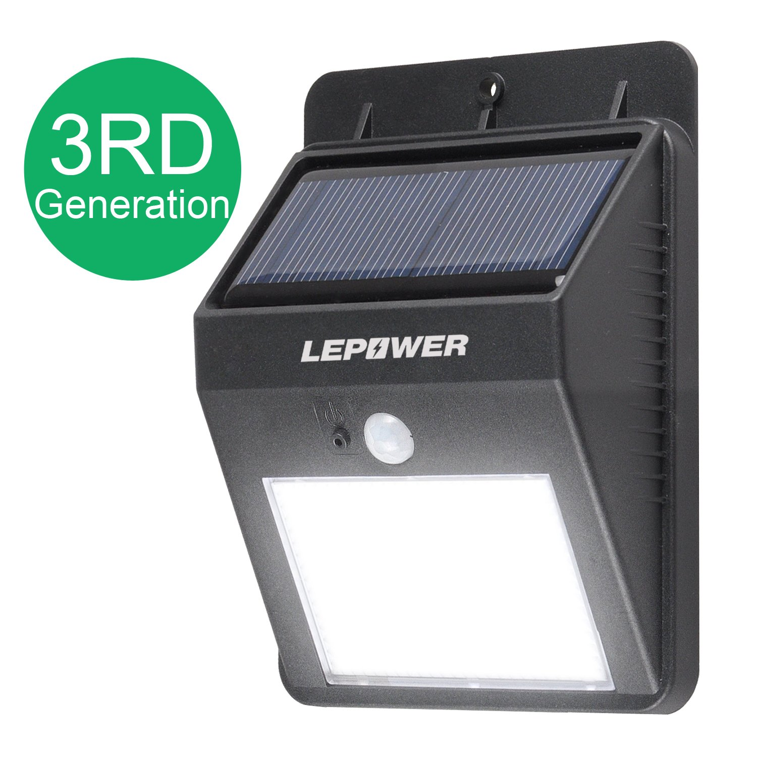 lepower bright led wireless solar powered motion sensor
