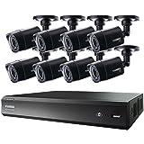 LOREX LHV00161TC8B Lhv00161tc8b 16-Channel Mpx Hd 1tb Dvr with 8 720p Camera (Black) (Color: black)
