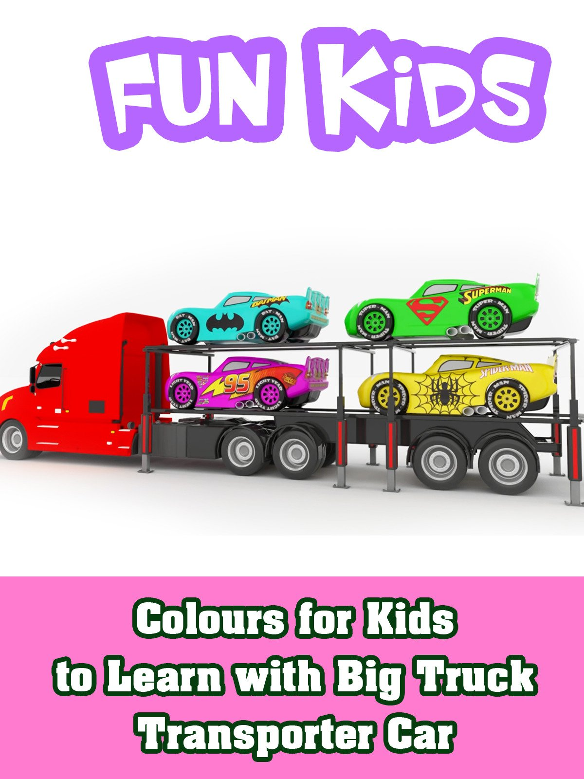 Colours for Kids to Learn with Big Truck Transporter Car