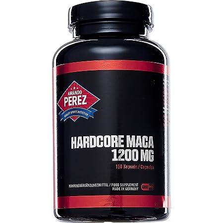 Hardcore Maca - 1.200 mg Pro Einnahme - Hochdosiert - 150 Giant Caps