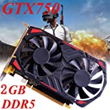 Graphics Card GTX 750,NXDA GTX 750 2GB GDDR5 128bit PCI-Express 3.0 Game Video Graphics Card For NVIDIA for GeForce, VGA DVI HDMI (Red) (Color: Red, Tamaño: 16.5x15x8.5cm)