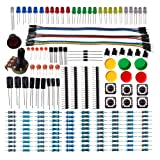 DSD TECH Electronics Component Basic Starter Kit with Resistor Capacitor LED Diode transistor and Dupont Cable for Arduino UNO R3 Mega 2560 Nano Raspberry Pi (Color: Multicoloured)