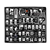 Sewing Machine Presser Foot Set, 48Pcs Domestic Sewing Machine Presser Foot Kit Sewing Machine Sewing Foot Presser Foot Presser Feet Spare Parts Accessories for Brother/Babylock/Singer/Janom/Kenmore