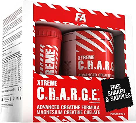 FA Nutrition Xtreme C.H.A.R.G.E. - 500g - Cherry - Promopack inkl. Shaker