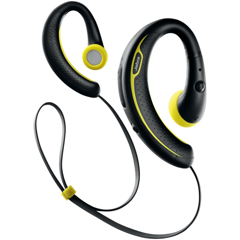 Jabra SPORT+ Wireless Bluetooth Stereo Headphones - Retail Packaging - Black and Yellow