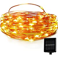 Easydecor 100 LED 33ft Solar Christmas String Lights (Warm White)