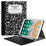 Fintie iPad Pro 10.5 Keyboard Case with Built-in Apple Pencil Holder - SlimShell Protective Cover w/Magnetically Detachable Wireless Bluetooth Keyboard for Apple iPad Pro 10.5, Composition Book Black (Color: ZA-Composition Book Black)