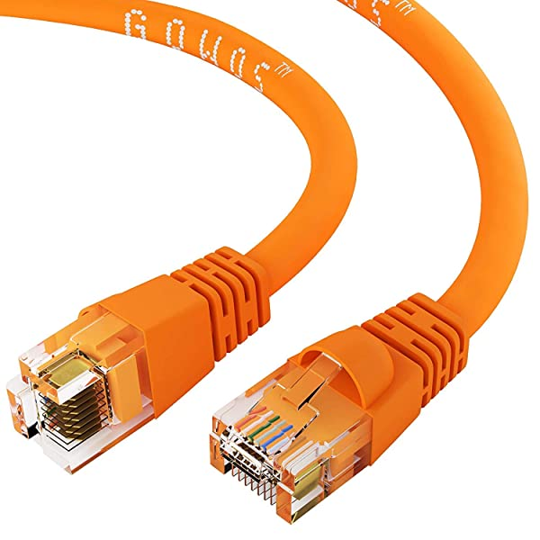 Black 1.5Ft Cat6 RJ45 24AWG 550Mhz Gigabit LAN Ethernet Network Patch Cable