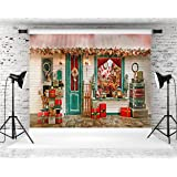 Kate 10X8ft (300cmX250cm) Christmas Backgrounds Wood House Photography Backdrops Gift Bright Christ Tree Party Photo Booth Props