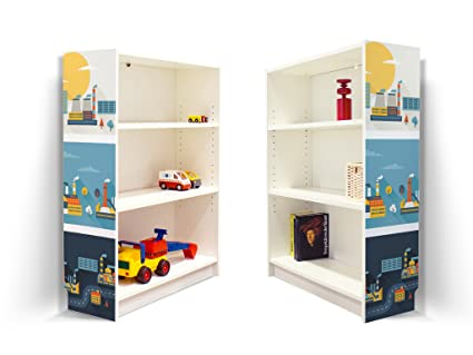 yourdea kinderzimmer m bel klebefolie f r ikea billy regal. Black Bedroom Furniture Sets. Home Design Ideas
