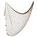 WINOMO 12m Mediterranean Style decorative Fishing Net Wall Photographing Decoration (Color: Light Brown)