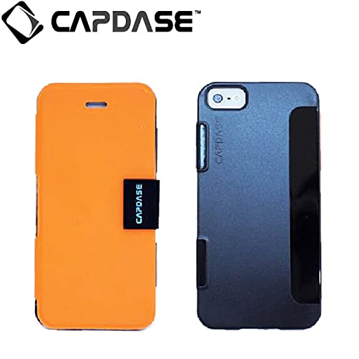 Capdase Karapace Jacket Sider Elli for Apple iPhone 5S / 5   Orange / Black  KPIH5 4E71  available at Amazon for Rs.10349