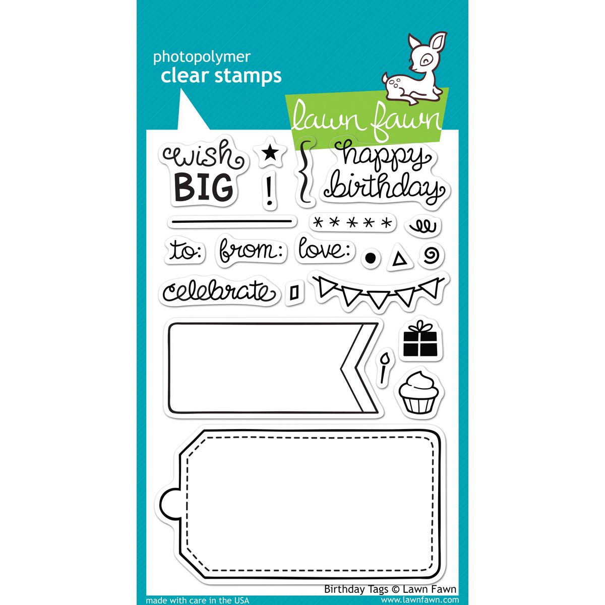 Lawn Fawn Clear Stamps - Birthday Tags #LF663 2pcs set embossing folders clear stamps card making acrylic vintage for photo scrapbooking stamp clear stamps for scrapbooking