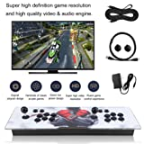 Homgrace Arcade Video Game Console, 1099 in 1 Universal Portable Classic Children Game Arcade Control Kit, Home Game Console with HDMI Data Cable for TV PC (Color: White&black)