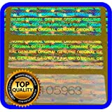 130 pcs Hologram Labels with Serial Numbers, Warranty Stickers Seals 1.18 x .39 in