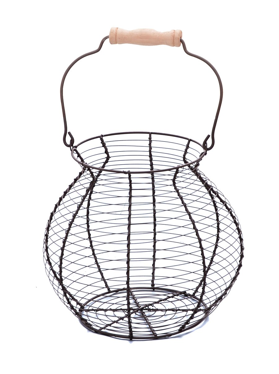 Wire Egg Basket - Vintage Style - By Trademark Innovations 0