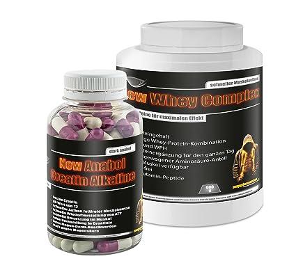New Anabol Creatin Alkaline 120 Kaps.+ New Whey Complex 600g Marzipan!Kraftaufbau Aminosäuren Eiweiß Fettabbau lowcarb Wheyprotein WPC
