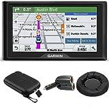 Garmin Drive 50LM GPS Navigator Lifetime Maps (US) 010-01532-0C Case + Mount + Charger Bundle includes GPS, 5-inch Soft Case, Nav-Mat Portable GPS Dash Mount and Dual 12V Car Charger