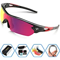 Torege Polarized Sports Sunglasses with 5 Interchangeable Lenes
