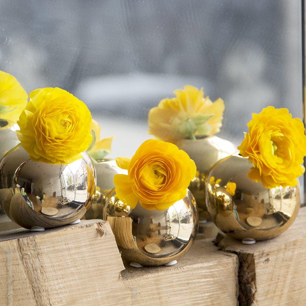 Sphere Ceramic Bud Vase - Gold