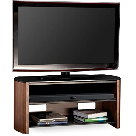 Alphason FW1350-W/B 3 Shelf Walnut Veneer Finewoods TV stand