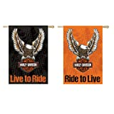 Harley-Davidson Double Sided Eagle Garden Flag (Color: White)