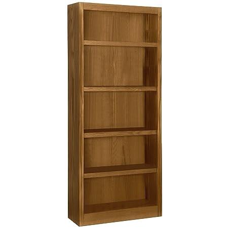 A. Joffe - Single Wide Bookcase - Dry Oak Finish - 5 Shelves
