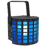 American DJ Mini Dekker DMX RGBW LED Strobe Kinta Derby Moonflower Light Effect (Color: Black)