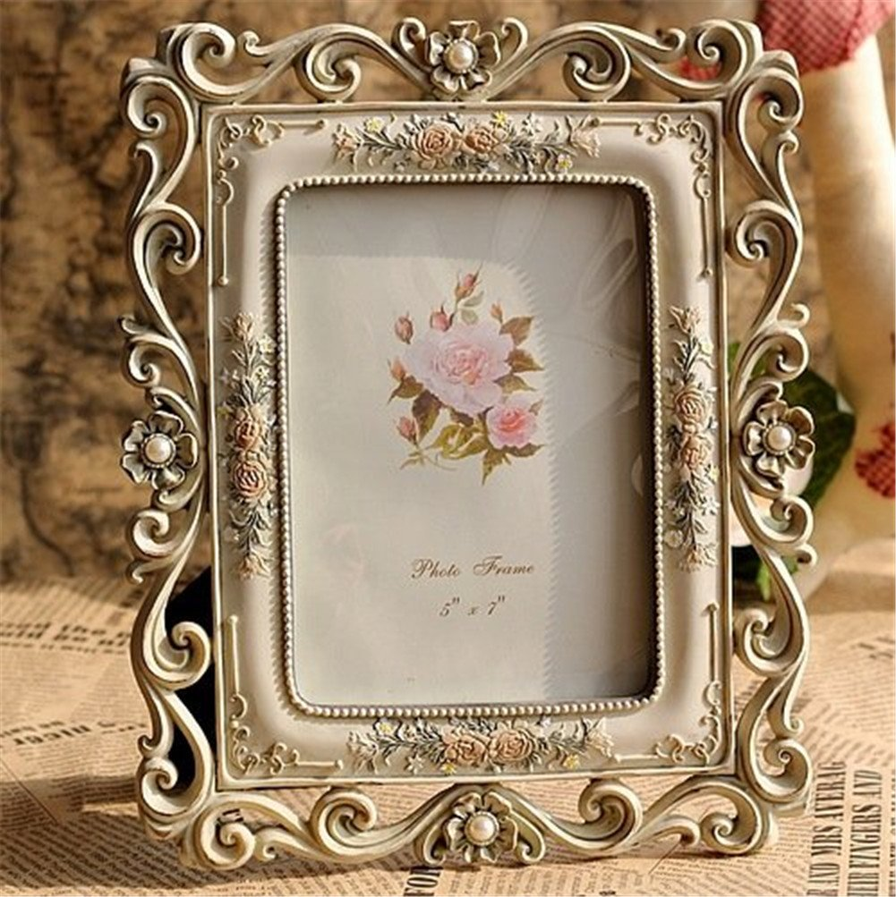 Gift Garden Vintage Picture Frame 5 by 7 -Inch Hollow up for Photo 5x7 1