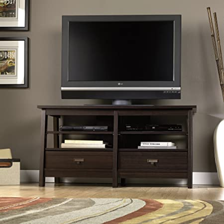 Sauder 47 in. Trestle TV Stand - Jamocha Wood