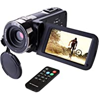 Hausbell 302S Full HD 1080p Camcorder with Remote Control (Black)