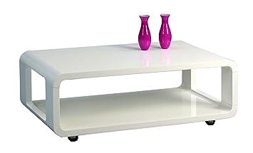 HomeTrends4You 203650 Couchtisch, 105 x 40 x 60 cm, weiß Hochglanz