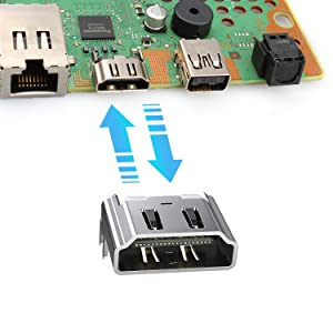 ZIYUETEK HDMI Port Socket Interface Connector Replacement for Sony Playstation 4 PS4 (2PCS) (Color: 2PCS)