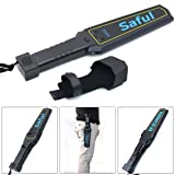 SAFEBAO Portable Security Hand Held Metal Detector Wand Scanner Audio Alert + LED Indication … (Color: Black+Blue, Tamaño: TS-P1001)