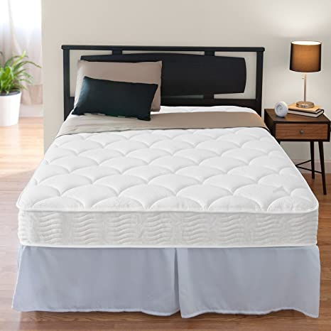 """Night Therapy 8"""" Tight Top Spring Mattress & Bed Frame Set - Twin"""