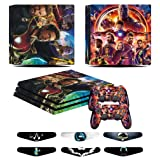 PS4 Pro Skins - Decals for PS4 Controller Playstation 4 Pro - Stickers Cover for PS4 Pro Controller Sony Playstation Four Pro Accessories with Dualshock 4 Two Controllers Skin - Ironman (Color: Ironman)