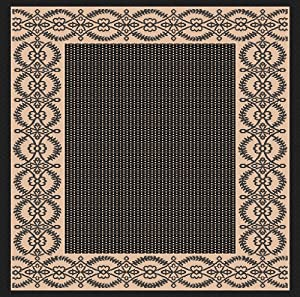 Amazon 3 x5 Indoor Outdoor Area Rug Black Beige 2