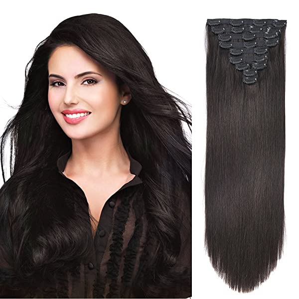 20 Clip In Human Hair Extensions Natural Hair Clip In Extensions