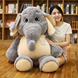 YXCSELL Gray gentle dream elephant Plush Stuffed Animals Toy for kids Girlfriend Gift 50 Inches (Color: Gray, Tamaño: 50 Inches)