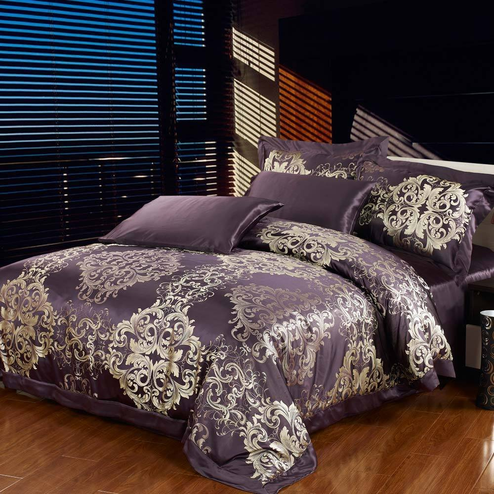 Bingirl Silk Duvet Cover 22 MOMME Seamless 100 Mulberry Silk Twin Full Queen King Bright Coffee California King