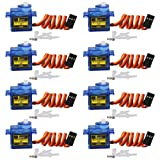 Keywish 8x Pcs SG90 Micro Servo Motor 9G RC Robot Helicopter Airplane Boat Controls