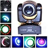 Boryli 30W LED Moving Head Light-DMX512 Control Moving Head Mini Stage Light With Colored Lights for DJ Disco Club Party Dance Wedding Bar Theater Event