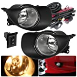 For Toyota Yaris Hatchback Clear Fog Lights Lamp Front Driving Bumper Replacement Upgrade